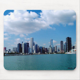 Chicago skyline view from Navy Pier Mouse Pad