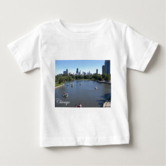 Chicago Skyline with Boats T-shirt