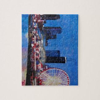 Chicago Skyline with Ferris Wheel Puzzle
