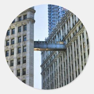 Chicago Skywalk Pegatina Redonda