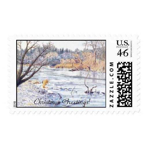 Chicago snow stamp
