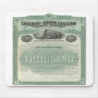 Chicago South Eastern Railway Gold Bond Mousepad
