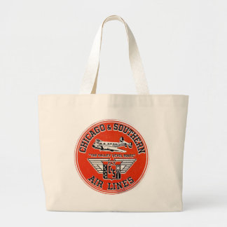 Chicago & Southern Air Lines logo Canvas Bag