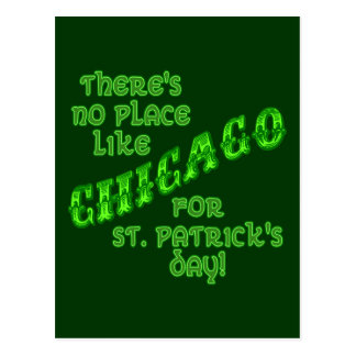 CHICAGO St Patricks Day Postcard