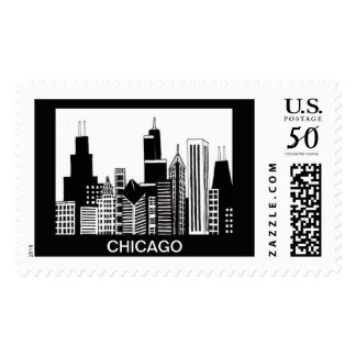 Chicago Stamp with Personalizable Text