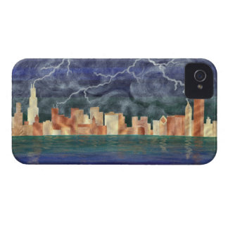 Chicago Stormy Weather iPhone 4 Case-Mate Case