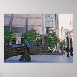 Chicago Street Art Fish - horizontal Poster