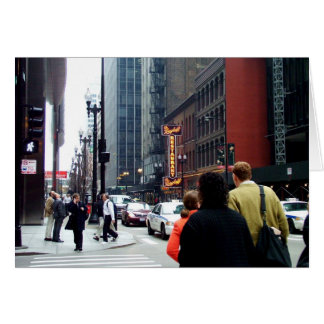 Chicago Street Scene Dearborn and Adams Sts Card