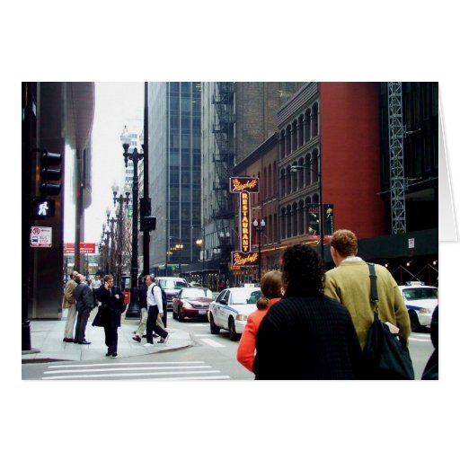 Chicago Street Scene Dearborn and Adams Sts Greeting Card