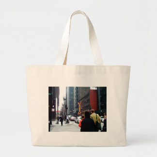Chicago Street Scene Dearborn and Adams Sts Large Tote Bag