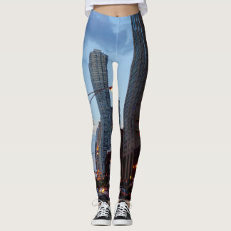 Chicago Street Scene Leggings