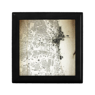 Chicago Streets and Buildings Vintage Map Gift Box