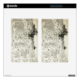 Chicago Streets and Buildings Vintage Map Kindle Fire Skin
