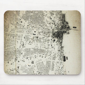 Chicago Streets and Buildings Vintage Map Mouse Pad