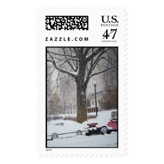 Chicago Streets on a winter day- stamps