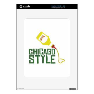 Chicago Style Decal For iPad
