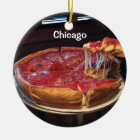 Chicago Style Deep Dish Ceramic Ornament