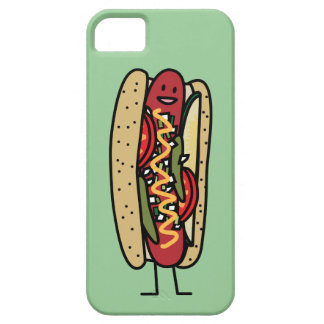 Chicago Style Hot Dog hot red poppy bun mustard iPhone SE/5/5s Case