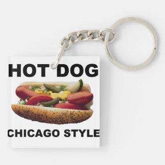 Chicago Style Hot Dog Keychain