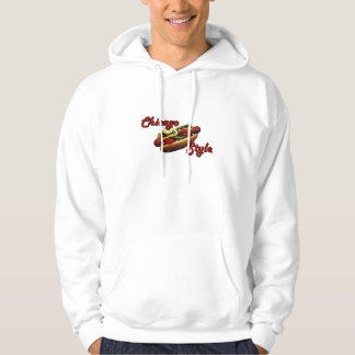 Chicago Style Hotdog Hooded Pullover