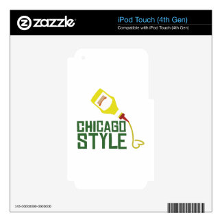 Chicago Style iPod Touch 4G Decal