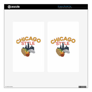 Chicago Style Kindle Fire Skin