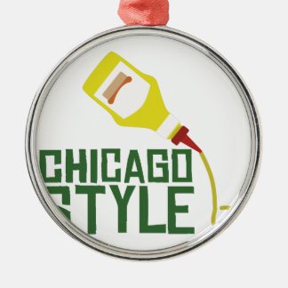 Chicago Style Metal Ornament