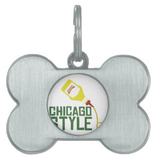 Chicago Style Pet ID Tag