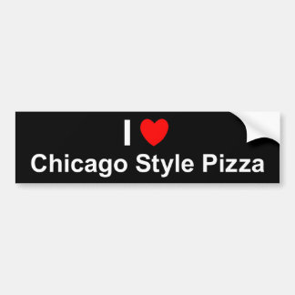 Chicago Style Pizza Bumper Sticker