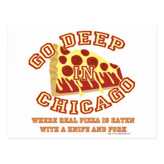 Chicago Style Pizza Postcard