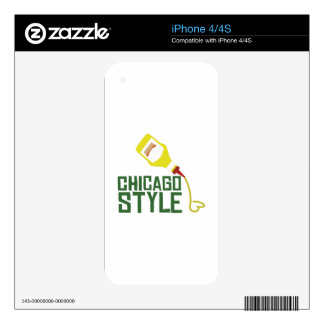 Chicago Style Skin For The iPhone 4