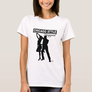 Chicago Style Steppin' Baby Doll black silhouette T-Shirt