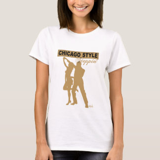 Chicago Style Steppin' Baby Doll gold silhouette T-Shirt
