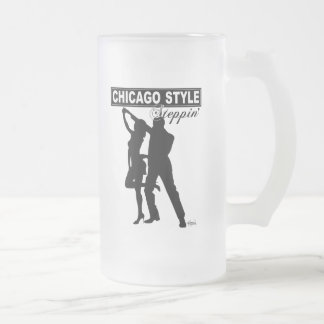 Chicago Style Steppin' Frosted Glass Mug
