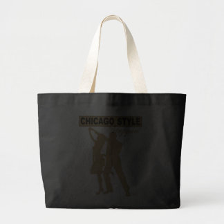 Chicago Style Steppin' Tote Bag gold silhouette