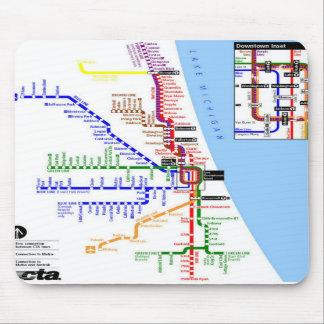 Chicago subway Mousepad
