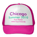 Chicago, Summer 2010, hat  hot pink/white TH2