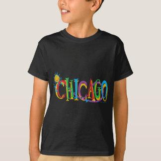 Chicago Sun And Stars Dark T-Shirt