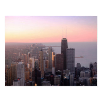 Chicago Sunset Post Card