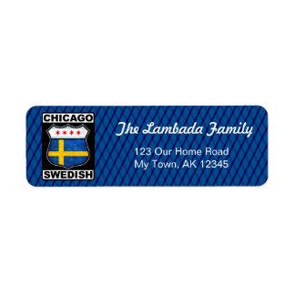 Chicago Swedish American Address Labels