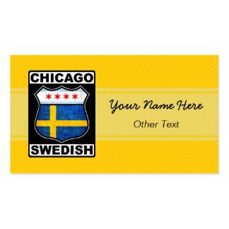 Chicago Swedish American Custom Business Cards