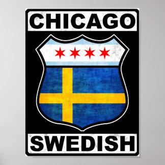 Chicago Swedish American Poster