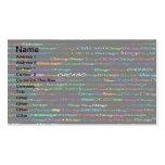 Chicago Text Design I Business Card I