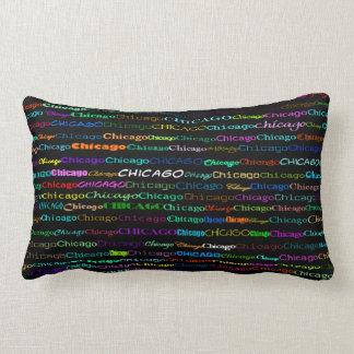 Chicago Text Design I Lumbar Pillow