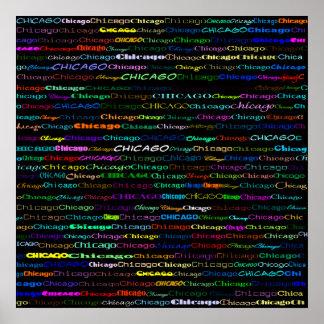 Chicago Text Design I Poster