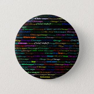 Chicago Text Design I Round Button
