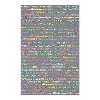 Chicago Text Design I Stationery