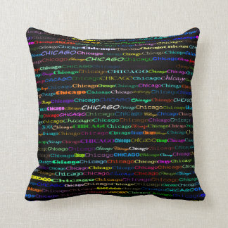Chicago Text Design I Throw Pillow