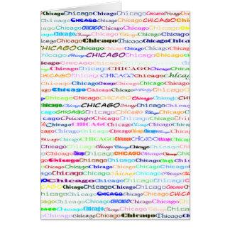 Chicago Text Design II Card (Blank Interior)