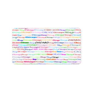 Chicago Text Design II Label